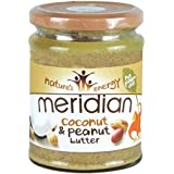 Meridian Natural Coconut & Peanut Butter 280 g Cremoso