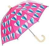 Hatley Mädchen Regenschirm Printed Umbrellas, Pink (Hearts), Einheitsgröße