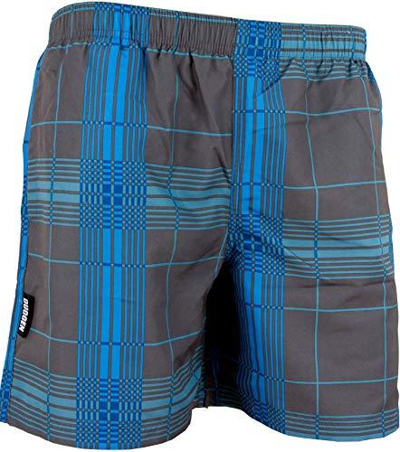 29769ada1f9fff GUGGEN Mountain Herren Badeshorts Beachshorts Boardshorts Badehose  Schwimmhose Männer kariert Farbe Grau XXL