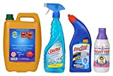 #8: Doctor Brand Phenyl, Toilet Cleaner, Glass Cleaner and Fightter (Combo of 4)