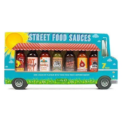 Modern Gourmet Foods Set de Regalo de Salsas, Incluye 2 Salsas Picantes, 2 Salsas para Alitas, y 3 Variedades de Salsas BBQ