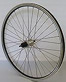 28 Zoll Fahrrad Laufrad Hinterrad REFLEX Hohlkammerfelge schwarz Shimano TX800 Vollachse silber Niro silber