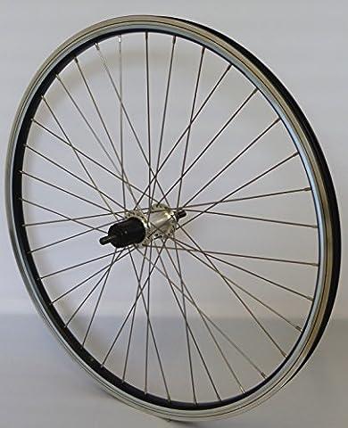 26 Zoll Fahrrad Laufrad Hinterrad REFLEX Hohlkammerfelge schwarz Shimano THX800 Vollachse silber Niro silber