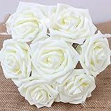 Alcioneo 7pz 1bouquet artificiale schiuma rose Flowers Home Room wedding party Decor