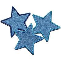 Set 3 Jeansflicken Stern Patch zum aufbügeln Kinder/Erwachsene Hosenflicken