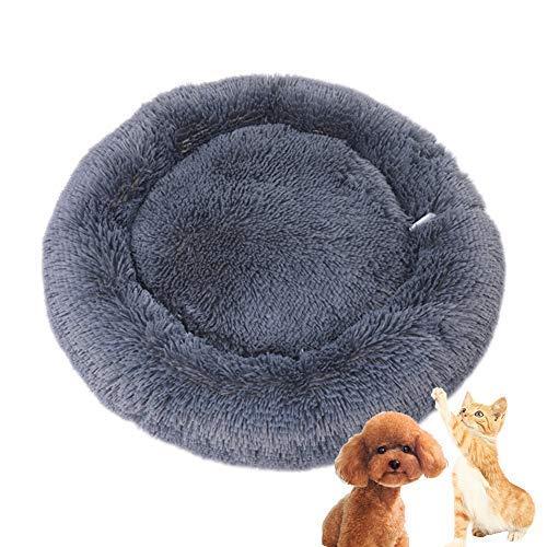 Maran Weich und warm Hundekorb Schlafplatz Tiere Kätzchen RundBett Tiere Sofa Gemütlich Hundebett Höhlenbett für kleine,Mittelgroße und Große Hunde-grau-50 * 50 * 20cm -