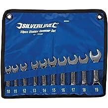 Silverline 630063 - Llaves combinadas pequeñas, 10 pzas (10 - 19 mm)