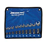 Silverline 630063 Jeu de 10 clés mixtes 10-19 mm