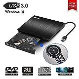 Lecteur CD/DVD Externe,MingBin USB 3.0 Graveur Lecteur DVD Externe Portable CD DVD...