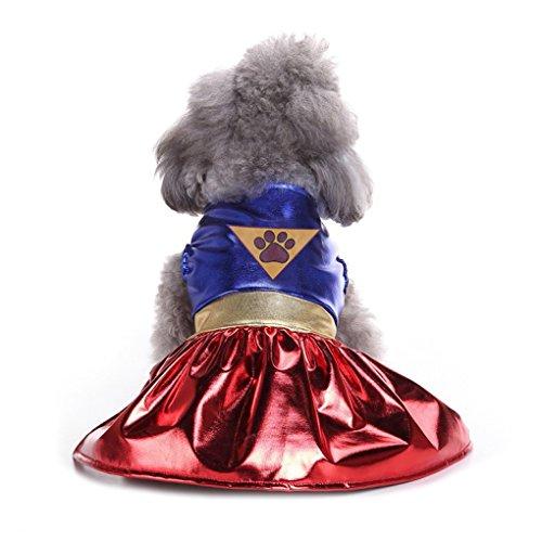 Kostüm Hunde Tragen Kürbis - Bomcomi Halloween-Kürbis-Kleid-Kostüm für Hund Katze Rock Cosplay Anzug Kleidung Weihnachten Prom Kleidung