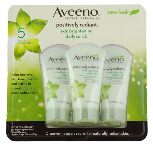 5 Scrub (Aveeno Skin Brightening Daily Scrub, 5-Ounce Tubes (Pack of 3) by Aveeno)