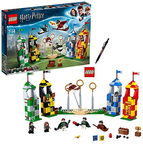 LEGO Harry Potter – Quidditch Turnier (75956) Bauset (500 Teile) + 1 Harry Potter Kugelschreiber...