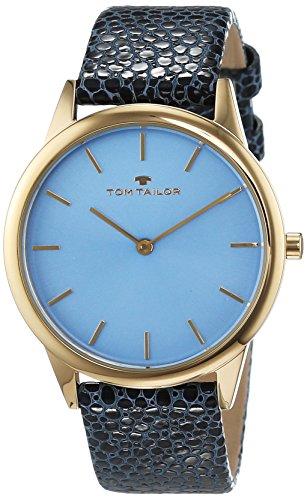 Tom Tailor - 5414704 - Montre Femme - Quartz - Analogique - Bracelet cuir Bleu