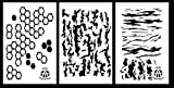 Acid Tactical® 3 Modelle - Hexacam , Baumrinde , Tigerstreifen Camouflage Vinyl Airbrush Spray-Farbe Stencils Schablone 35cm - Duracoat Cerakote gun