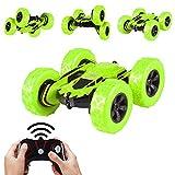 AOLVO RC Stunt Car, Electric 4WD Off Road télécommande de Voiture 1: 28essorage Stunt Jouet Rock Crawler véhicule 360° Flips Cadeau idéal pour Enfants (2Batterie Incluse)
