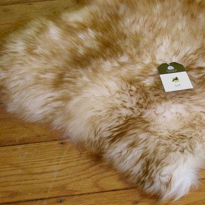 Large Double Sheepskin/Lambskin Rug 2.1m X 0.85m (Approx) Wolf / Brown Tip