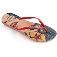 Havaianas Slim Heroinas Flat Flip Flop UK 6/7 - BRA 39/40 Nude / Rouge