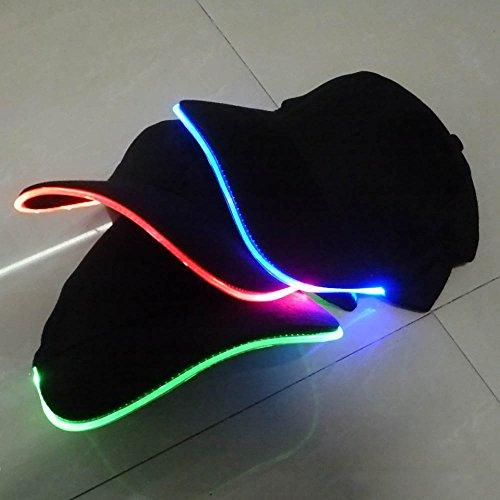 Neu PhantasieeinstellbarerLED-BeleuchtungemittierendeClub-PartyBaseballmütze Hip-HopHut Farbe: Blau
