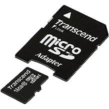Transcend TS16GUSDHC10E - Tarjeta de memoria MicroSD de 16 GB (clase 10, adaptador)