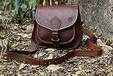 vintage crafts satchel leather messenger bag , crossbody bag, women bag