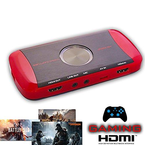 Tech Stor3 juego Capture Pro HD 1080P del juego del registrador Juego Xbox Un juego de PC / 360 y PS4 / PS3 WII / grabador de WiiU Transmisión de vídeo VHS Grabber (Gameplay Recorder)
