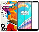 #3: Annure 3D [Shatterproof] Edge To Edge Tempered Glass Screen Protector For Oneplus 5T - Black