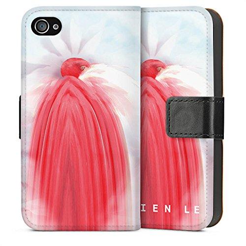 Apple iPhone 5s Housse Étui Protection Coque HIEN LE Fashionweek Oiseau Sideflip Sac