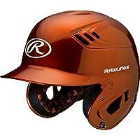 Casco de béisbol metálico Rawlings R16 Series - R16, mayor, Anaranjado