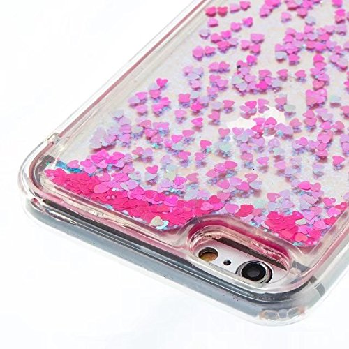 Coque iPhone 4, Coque iPhone 4S, Flowing Liquide Floating Luxe Bling Glitter Sparkle Case Cover pour iPhone 4 / 4S 7# 6G