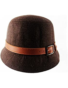Mai Dou Impresión Femenina Del Invierno Del Otoño Gorro Lateral De La Moda Sombrero Elegante Salvaje