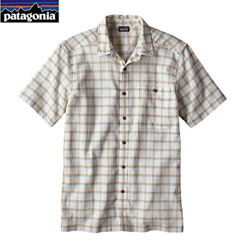 Patagonia mich S S/S A/C, Hemd Herren, Adrift: Birch White (White Shirt Patagonia)
