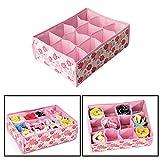 Cold Toy 12 Grid Aufbewahrungsbox Case Bag Schublade Closet Home Organizer Fr BH Unterwäsche Socken