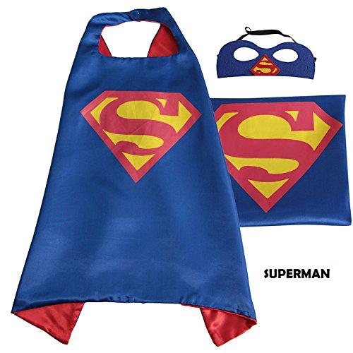 Imagen de superhéroe capa con máscara de libre para kids–disfraz de fiesta