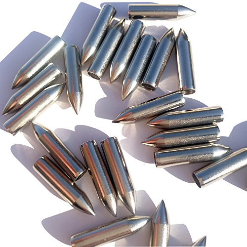 SHARROW 24 Stück Bogenschießen Jagd Pfeil Tipps Jagdspitzen Pfeilspitze Edelstahl Pfeilköpfe für Armbrustpfeile