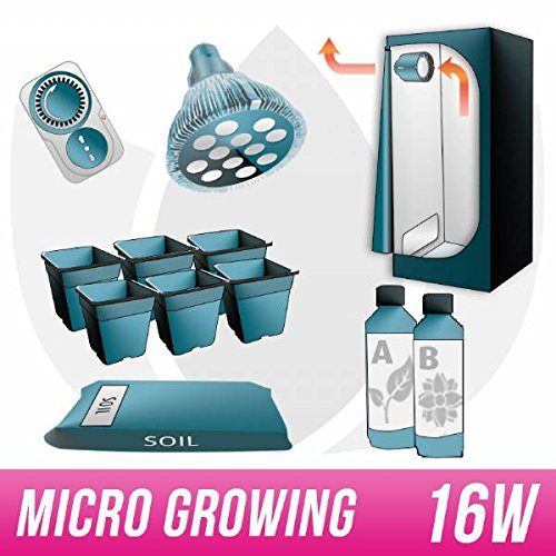 Galleria fotografica Kit Micro Growing GrowBox 40x40x120 + PAR38 Led Agro
