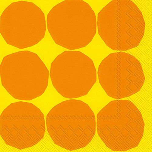 marimekko-serviettes-de-cocktail-kivet-yellow-25-x-25-cm