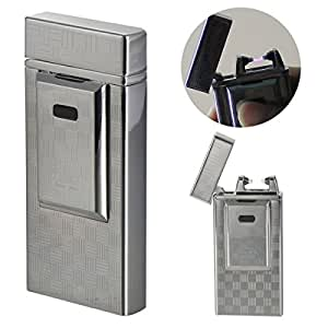 TIGER TW-900 Wind Proof Metal Rechargeable Micro USB Eletric Arc Torch Lighter w/ Charger Wire - Silver