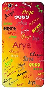 Arya (Godess Parvathi) Name & Sign Printed All over customize & Personalized!! Protective back cover for your Smart Phone : Moto X-Play