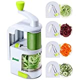 Spiralizers for Vegetables - ChefSpies Upgraded Vertical Built-in 4-in-1 rotating blades Spiralizer