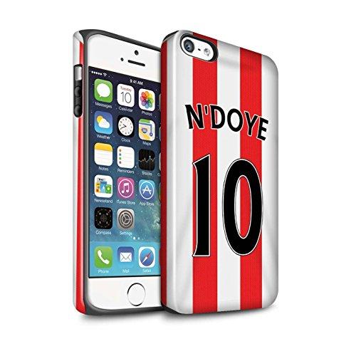 Offiziell Sunderland AFC Hülle / Glanz Harten Stoßfest Case für Apple iPhone 5/5S / Pack 24pcs Muster / SAFC Trikot Home 15/16 Kollektion N'Doye