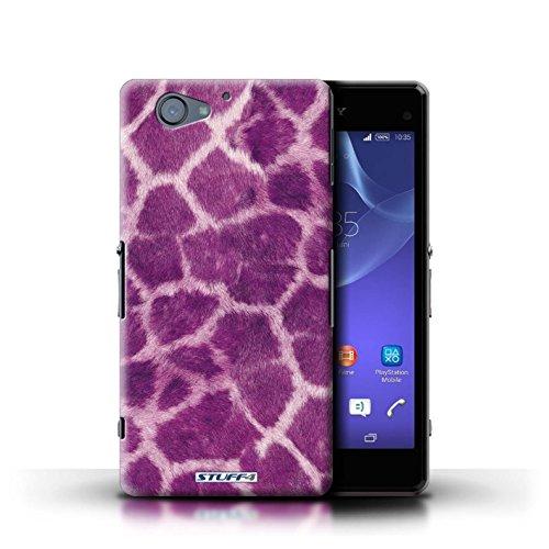 Kobalt® Imprimé Etui / Coque pour Sony Xperia A2 / Pourpre conception / Série Girafe animale Peau/Motif Pourpre