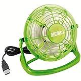 mumbi USB Ventilator - Mini Fan für den Schreibtisch mit An/Aus-Schalter, grün