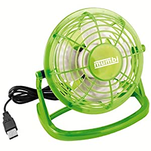 mumbi USB Ventilator – Mini Fan für den Schreibtisch mit An / Aus-Schalter, grün