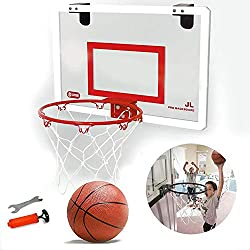 MOGOI Mini Panier de Basket intérieur et balles, Fixation Murale, Panier de Basket pour Chambre à Coucher, Bureau, Jeu de Basket pour Enfants et Adultes 45 x 30 cm, Red