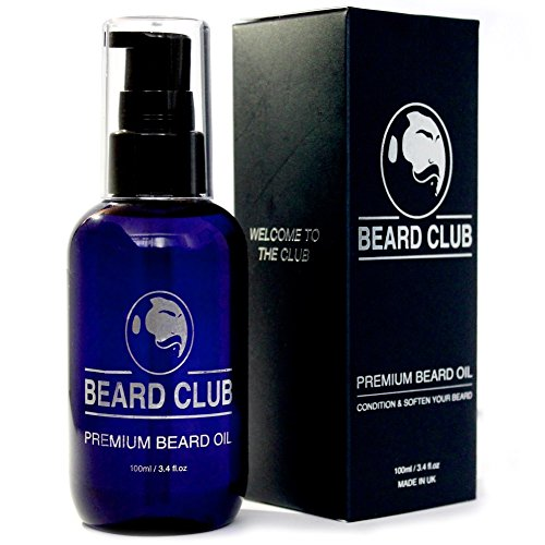 Premium Bartöl - 100ml (große Flasche) - Bart Pflege für den Mann - Das beste natürliche Bartpflegeöl für einen weicheren Bart für den Mann - Beliebt für Bartpflege & Bartwachstum - Großartiger Feuchtigkeitsspender / Balsam für die Haut - Kostenfreies eBook