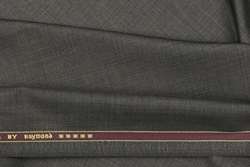 Raymond Suit Fabric 1Pc 3Meter Suit Length Solid Brown::Grey for Men's  available at amazon for Rs.1499
