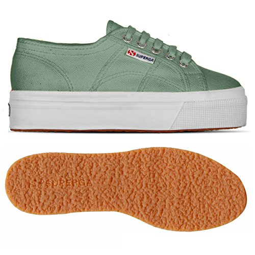 Superga 2790 Cotw Linea Up and Down, Sneakers Basses femme GREEN MALACHITE