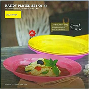 Tupperware Plastic Plate Set, Set of 4, Multicolour
