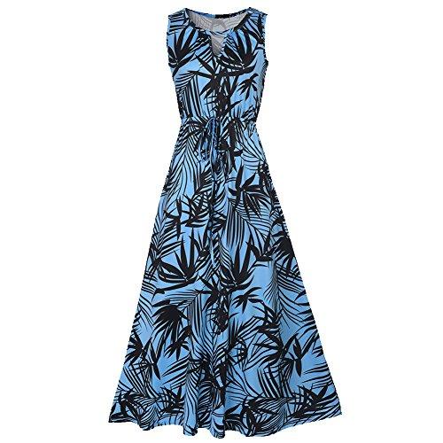 CoCo Fashion - Robe - Trapèze - Sans Manche - Femme Z610_Blau