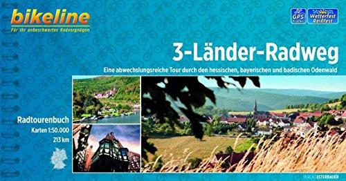 Bikeline 3-Länder Radweg (Odenwald): Eine abwechslungsreiche Tour durch den hessischen, bayerischen und badischen Odenwald 212 km. Radtourenbuch 1 : 50 000, wetterfest/reißfest, GPS-Tracks Download
